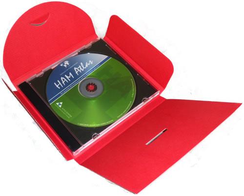 CD-Geschenkverpackung - rot (Versandverpackung)