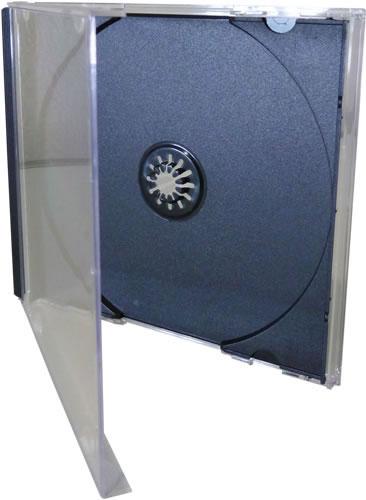 CD-Jewelboxen ECO (transparent mit schwarzem Tray) - 50 Stück (CD-Huellen Jewel Case)