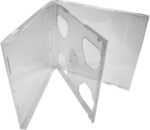 CD-Doppel-Hüllen Jewelcase - komplett transparent (CD-Mehrfachboxen)