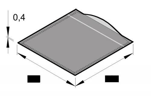 glasklare Sleeve-Tasche ohne Klappe (CD-Papierhuellen)