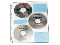 10 Stück Vario CD/DVD Ringbuch Einlagen für 60 Discs (Archivtaschen)