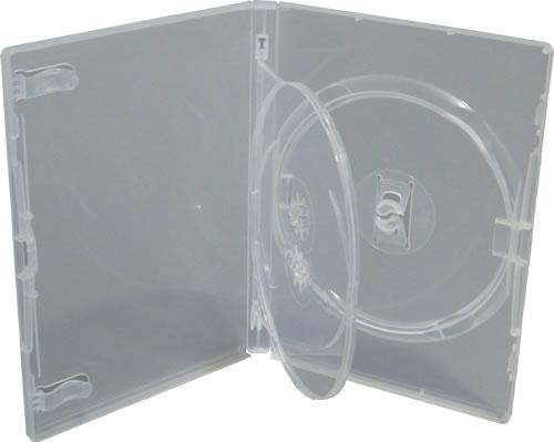 AMARAY DVD Hülle 3-fach mit Klapptray - transparent (DVD-Mehrfachboxen)