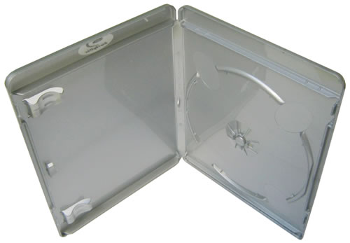 Blu-Ray-Hülle - 11mm - vollfarbig silber (Blu-Ray-Boxen)
