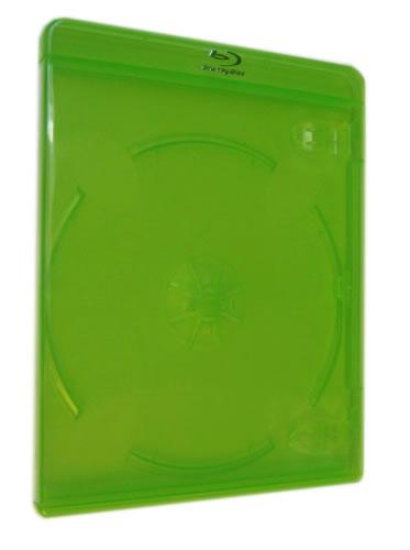 Blu-Ray-Hülle - 11mm - transparent grün (Blu-Ray-Boxen)