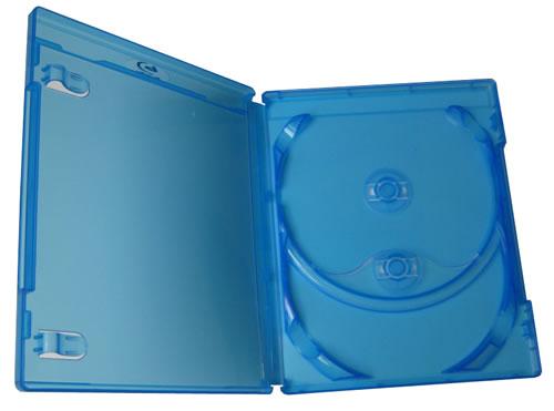 SCANAVO Blu-Ray-Hülle für 2 Disks - 14mm - blau (Blu-Ray-Boxen)