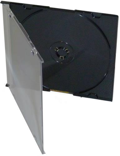 CD-Slimcase - schwarz - 50 Stück (CD-Huellen Slim)