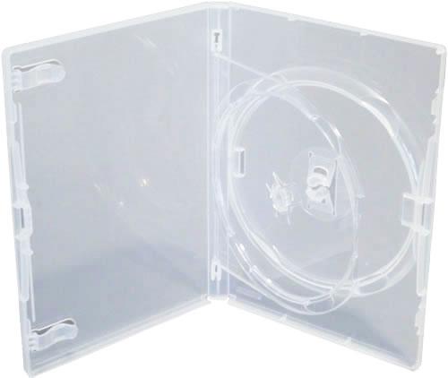 AMARAY Doppel-DVD-Hülle mit Klapptray - transparent (DVD-Mehrfachboxen)