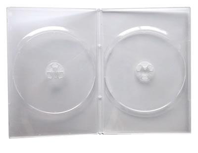 Doppel-DVD-Hüllen Slim - transparent (DVD-Huellen Slim)