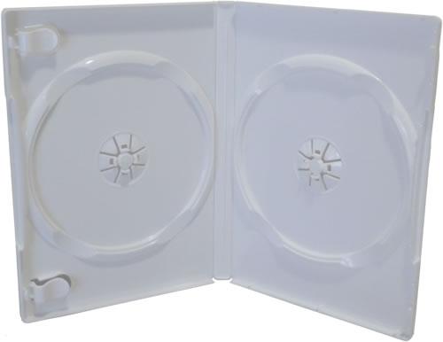 Qualitäts Doppel-DVD-Hülle - weiss glänzend (DVD-Mehrfachboxen)