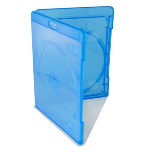 AMARAY Doppel-Blu Ray-Hülle - blau - FACE on FACE (Blu-Ray-Boxen)