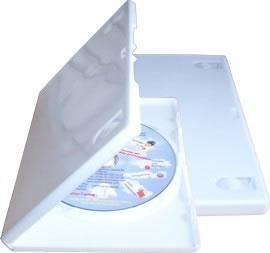 DVD-Hüllen - glänzend weiss (DVD-Huellen)