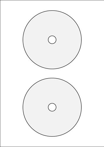 Booklet rund - 40 Stück (CD-Boxen Metall)