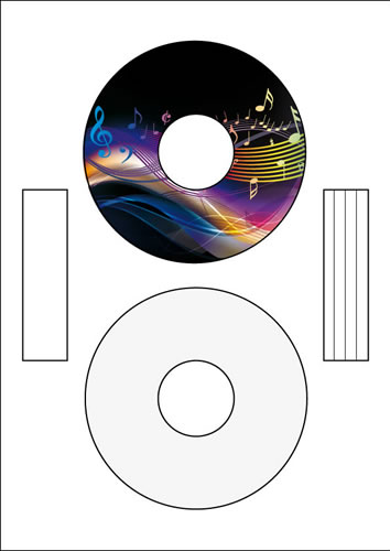 CD-Etiketten Standard Inkjet/Laser - 50 Stück (CD-Etiketten Standard)