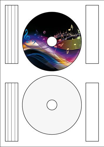 CD-Etikett Vollfläche Inkjet/Laser - 50 Stück (CD-Etiketten Standard)