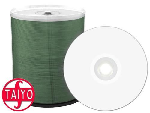 TAIYO YUDEN Profi-Line CD-Rohlinge - bedruckbar/inkjet printabled weiss - 100 Stück (CD-Rohlinge bedruckbar)