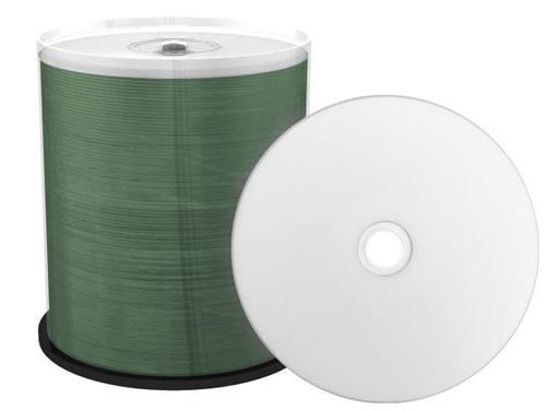 CD-Rohlinge - bedruckbar/inkjet printable weiss - metallisiert - 100 Stück (CD-Rohlinge bedruckbar)