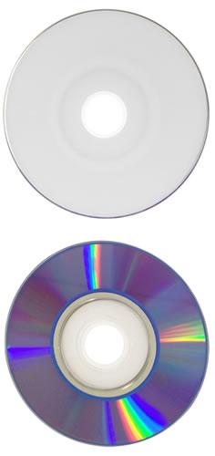 Mini DVD-Rohlinge bedruckbar/inkjet printable weiss - Mini DVD-R 8cm 1,4GB (DVD-Rohlinge 8 cm Mini)