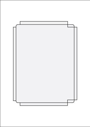 SJB King Einleger Ink/Laser - 100 Stück (DVD-Einleger)