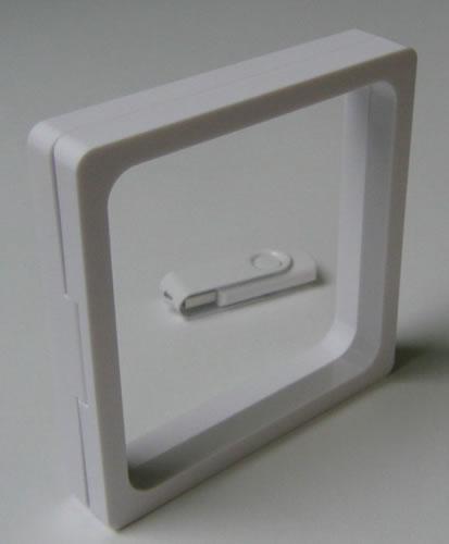 3D-Schweberahmen - weiss - 11cm (CD-Luxusboxen)