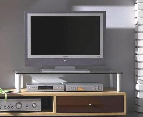 VCM Lowboard- und Wohnwand-Glasaufsatz Felino-Maxi (TV-Racks)