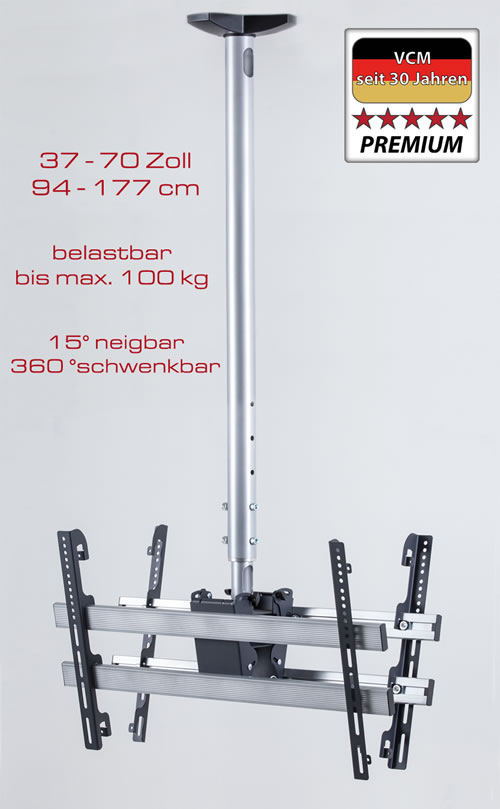 "VCM Deckenhalterung ""TDH 4 MAXI DOUBLE"" (Hifi- und TV-Moebel)"